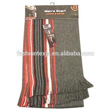 winter warm men acrylic warp knitting scarves