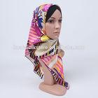 2014 silk pink flower arabic sexy islamic wedding dresses hijab