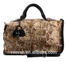 Python skin bags handbags women famous brands,snake skin bag pu woman bag brand
