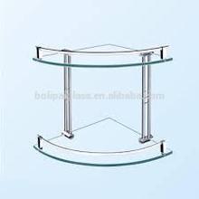 Bathroom corner two layer glass shelf price