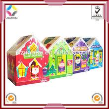 House shape gift box,house shaped cardboard box,house shaped box