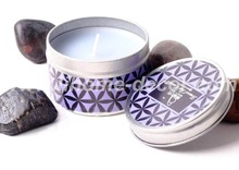 Shenzhen Lihome scented candle in tin box,lavender scent,paraffin wax,wholesale