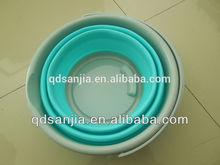 Plastic Foldable Water Bucket High Quality Oval Folding Pail/Bucket/Barrel