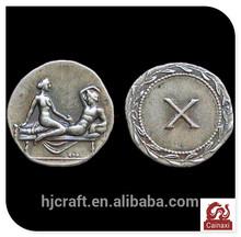 Custom collection fake antique roman sex silver coin