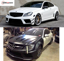 C63 AM black series body kit fit for coupe Benz W204 C-class wide style Frp material