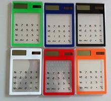 promotional mini pocket solar transparent Calculator