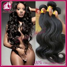 Hot selling top grade unprocessed 100% natural human brazillian virgin hair