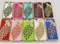 Luxury Peacock Handmade Diamond Bling Case Cover For iPhone 5 4S 4