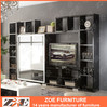 Modern wooden led TV wall unit design PA102