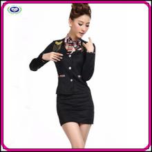 New design maid uniform sexy ladies black professional sexy maid uniform