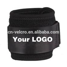 Black thick elastic velcro straps stretchy wrist wrap sports gym elastic velcro wrist band
