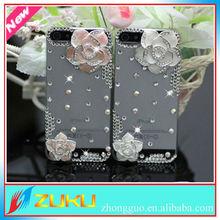 3D flower design Full Diamond Case for iphone 5 5S