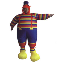 200cm high inflatable clown costume for adult