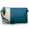 classic woman purse color collision purse snake genuine leather woman purse EMG2949