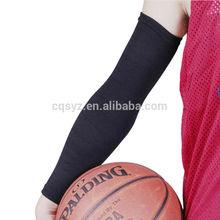 Black Knitting Spandex Elastic Upper Arm Support China Manufacturer compression wholesale protective sunblock uv arm sleeve