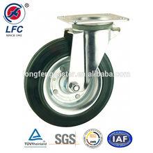 200mm Hot sale EN840 rubber ball caster wheels with total brake