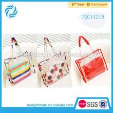2014 Fashion Clear PVC Tote Bag Handbag For Women