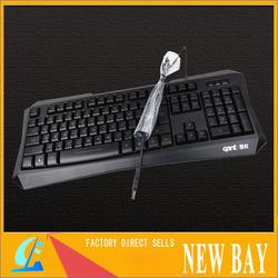 Wholesale - -New LED letter illuminated Keyboard L7 High quality wired usb multimedia keyboard