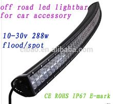 Hot! led driving light 288w flood/spotlight aurora led light bar
