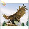 Outdoor Large Life Size Bronze Brass Eagle Sculptures for Sale