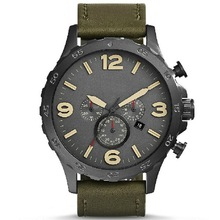 Hot products leather name brand watch for men