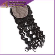 Wholesale 6A Brazilian Virgin Hair silk base closure bleached knots