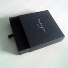 Luxury Black Paper Packing Box For T-shirt Drawer Design Wholesale Boxes Gifts