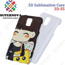 Sublimation 3d case Accept Custom Design for Samsung Galaxy S5