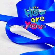 High quality make dark blue satin ribbon flowers rosettes shoelaces