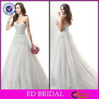 New Arrival Ball Gown Strapless Sweetheart Lace Appliqued Wedding Dress Fabric
