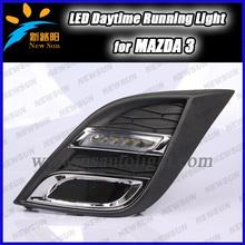 High power 12v daylight led drl, 1pair 6 LED White Car Auto Driving Lamp Fog 12V led DRL Daytime Running Light for Mazda 3