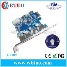 WBTUO 4 port external USB3.0 PCI Express card, pci express riser card