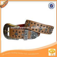 texas occidental marrón conchos cruz cinturones de diamantes de imitación