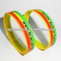 Discount mode nouveau bracelet de silicium d'impression d'écran en soie