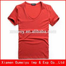 2014 new design deep v neck men's t shirts