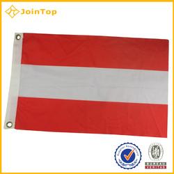 Custom Marking Polyester Printing Red White National Flag
