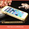 Hot selling TPU+ALUMINUM metal phone bumper diamond phone case for iphone 5s case