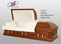 Madeira estilo americano caixão caixão de madeira