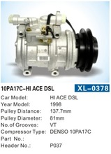 DENSO 10PA17C auto air-condition ac air conditioning compresso parts for HI ACE DSL auto compressor for toyota
