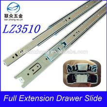full extension rubber roller slide