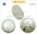hacer su propio diseño de venta caliente de alta calidad de fundición de metal de plata las monedas
