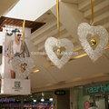 Dxac- 170 tienda centro comercial corazones forma atrio y decoraciones