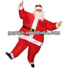pai natal inflável gordura terno para venda