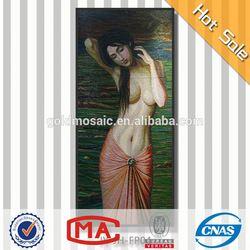 handpainted indonesian nude girl painting digital new style premium design art mosaic patterns