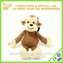 China supplier stuffed animal plush keychain lovely plush soft monkey