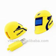 Safty helmet usb stick helmet usb flash memory contruction gift usb for worker