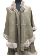 Stock Sale100% Pashmina Shawl with Fur