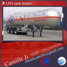 Factory supply 52000 L butane tank ,52000 litres high capacity lpg tank trailer ,52 cbm lpg tanker for sale