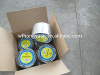 1.5mm self adhesive aluminium finished bitumen flashing tape/roofing tape/sealing tape