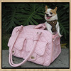 Large size pink classic sherpa style soft bags to carry dogs